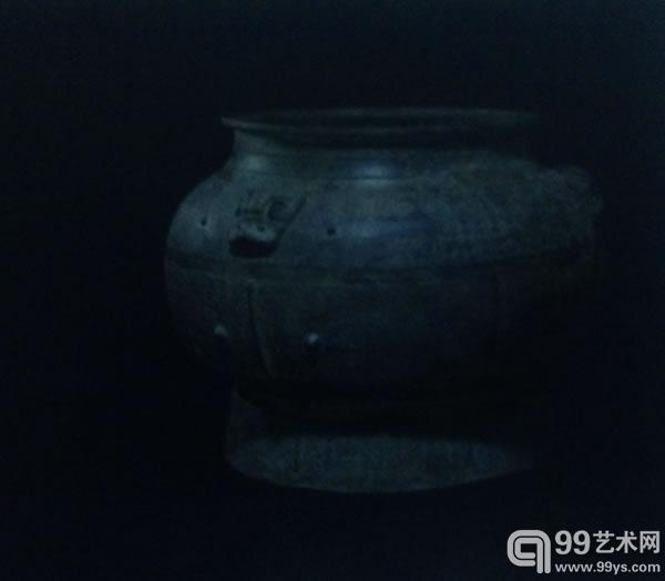 商代青铜兽面纹瓿27.9 cm 高
