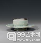 十二世纪高丽翡色青瓷五瓣花型盏托