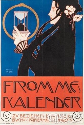 科罗曼·莫塞尔(1868-1918),《弗罗姆日历》海报,1899