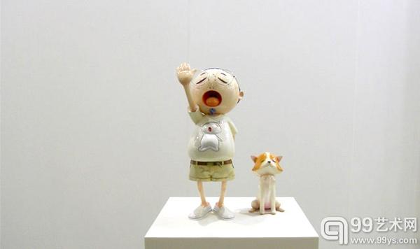 """村上隆的雕塑""""Pom&Me"""""""