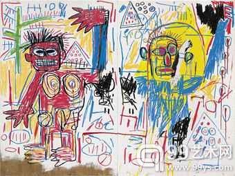 让-米歇尔·巴斯奎特的1982年作品《无题》(Untitled,估价待询)