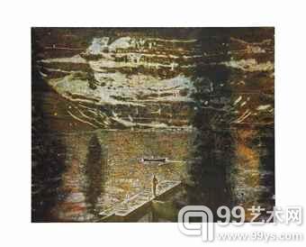 彼得·多伊格(Peter Doig)的1994年作品《码头》(Jetty)