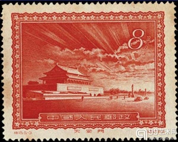 上海泓盛邮品拍卖会:天安门放光芒邮票112.7万拍出