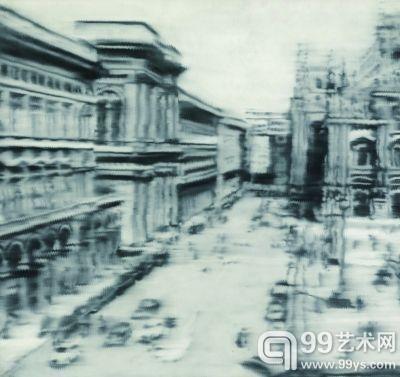 里希特 米兰大教堂广场 布面油画 275×290厘米 1968年
