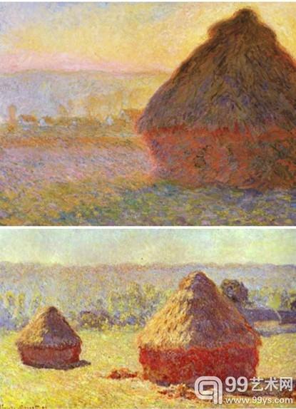 《干草堆》油画系列