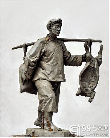 雕塑作品渐入佳境,他在速写基础上融入传统中国画的图片