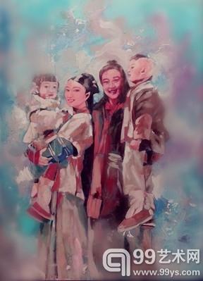 美女油画家王俊英:七夕情人节组画受海外藏家青睐 竖