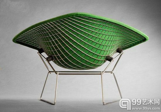 大型钻石躺椅,哈里·伯托埃Harry Bertoia (1915-1978)设计。