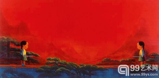 中国当代画家刘野之《剑》