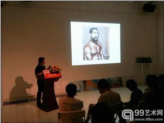 艺术朱春林在公开课现场