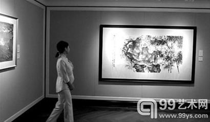 """""""敬华艺术空间""""展示了吴昌硕、任伯年、徐悲鸿、齐白石等几十位中国书画名家的作品。"""