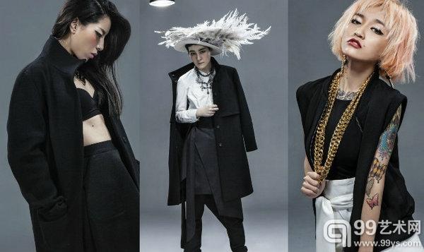 张家衣、杨钧涵和陈星如分别化身模特为SIMONGAO for Galeries Lafayette拍摄大片