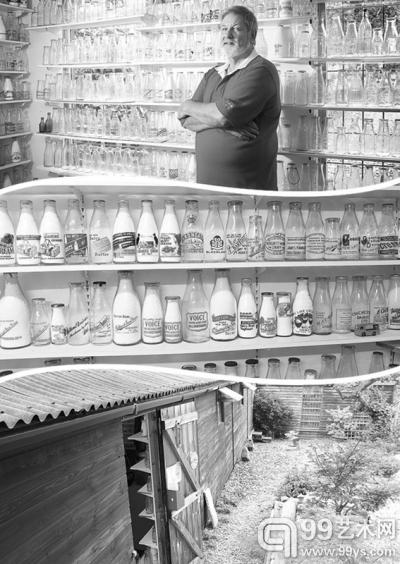 """花园里的""""牛奶瓶博物馆"""""""