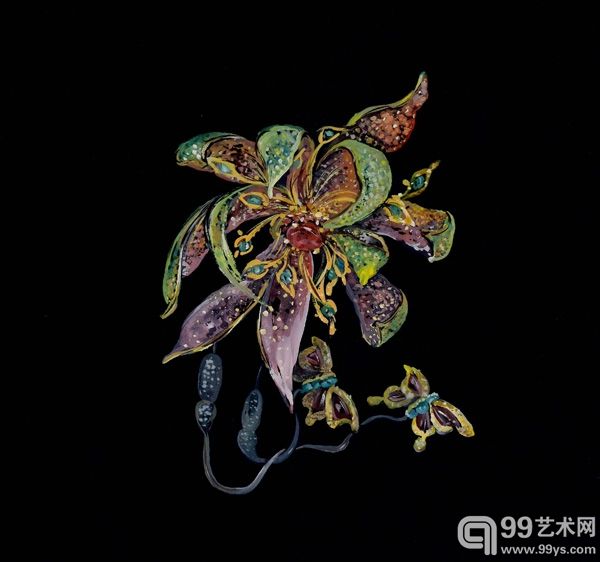《唐朝的花》胸针