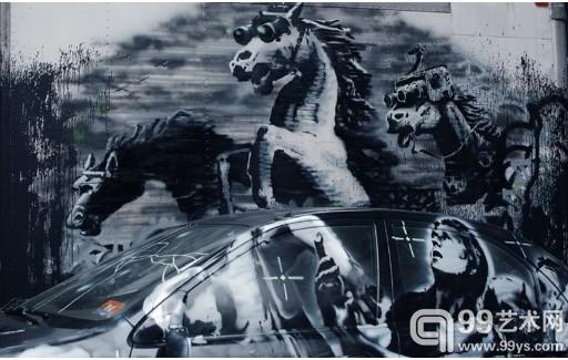 英国街头艺术家纽约行创意作品