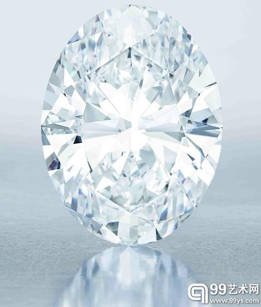 NO.1 拍卖史上最大D色无瑕钻石