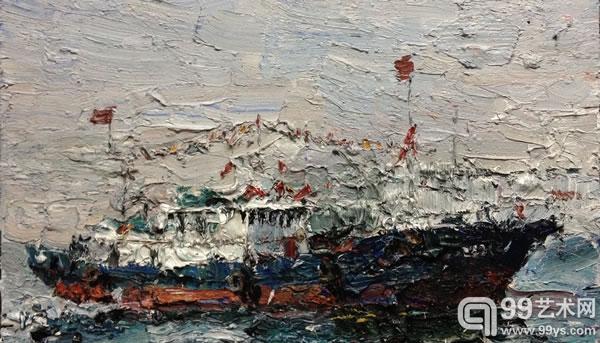 吕山川,辽宁渔船,180 x 140cm ,布面油画,2013