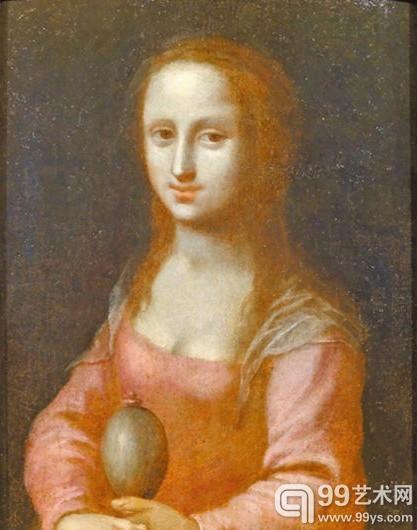 乌菲兹美术馆藏的《仕女肖像画》,作者为16世纪匿名艺术家。