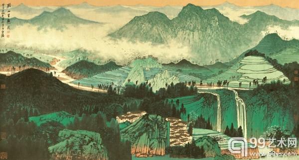 薛亮  (b.1956) 黔山生态图