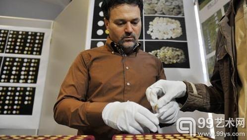 罗马尼亚国家历史博物馆展出其祖先所铸金币