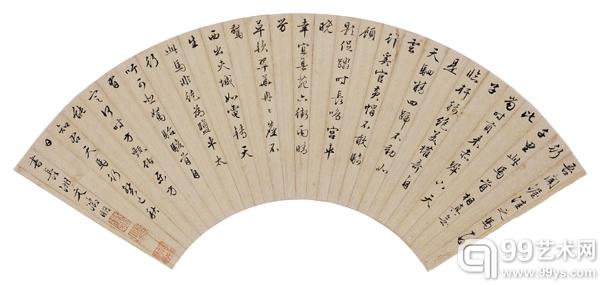 文征明(1470-1559)行书千里马赞