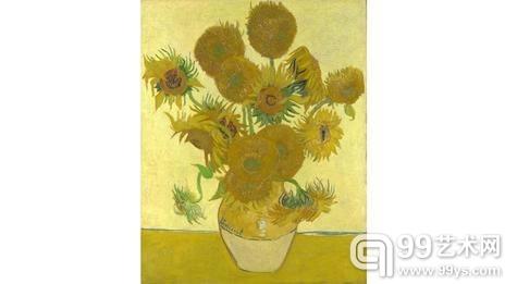 梵高最著名的向日葵静物写生悬挂在伦敦国家美术馆内。