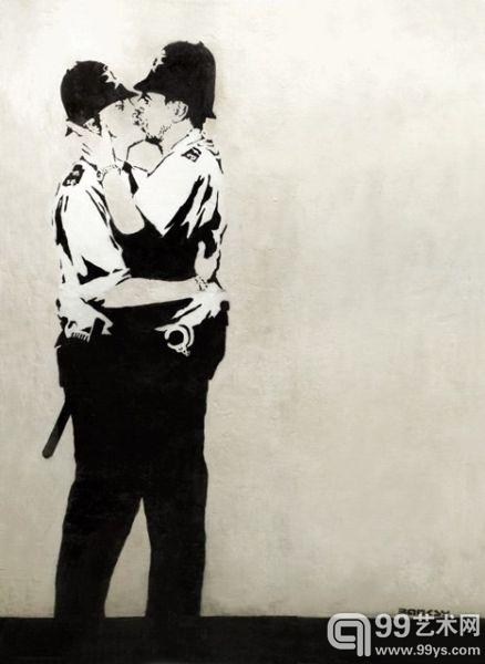 班克斯 亲吻的警员 2007