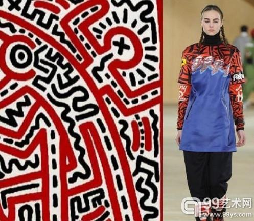 "Marc By Marc Jacobs 2014秋冬系列""偷师"" Keith Haring1983年的作品《无名》"