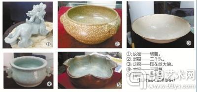 古瓷鉴藏专家朱正泽正在讲解新老钧瓷的鉴别要领。