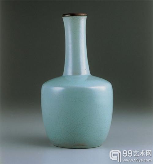 台北故宫藏 北宋汝窑青瓷奉华纸槌瓶