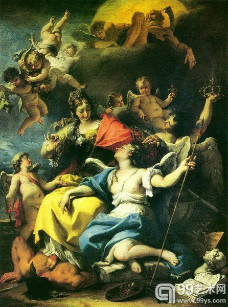 塞巴斯蒂亚诺 里奇油画作品欣赏 丰满柔嫩的人体之美高清图片