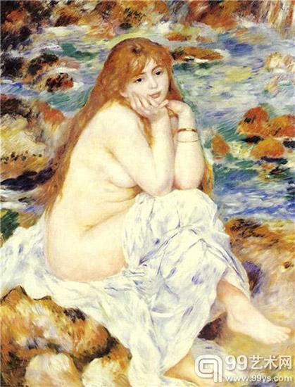 坐着的裸女