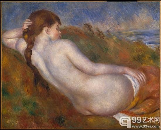 斜卧的裸女