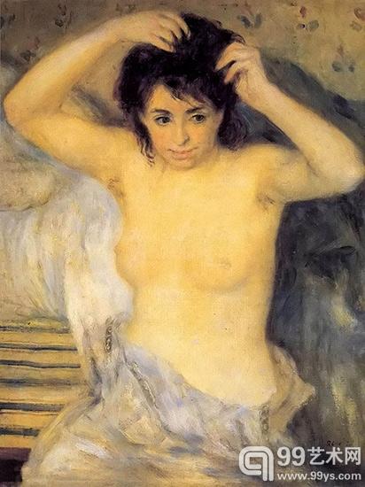 沐浴前的少女