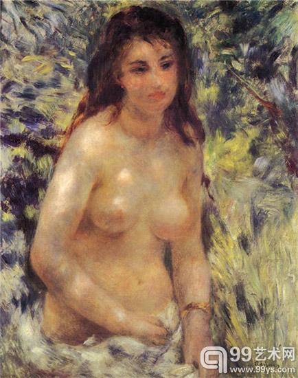 阳光下的裸女