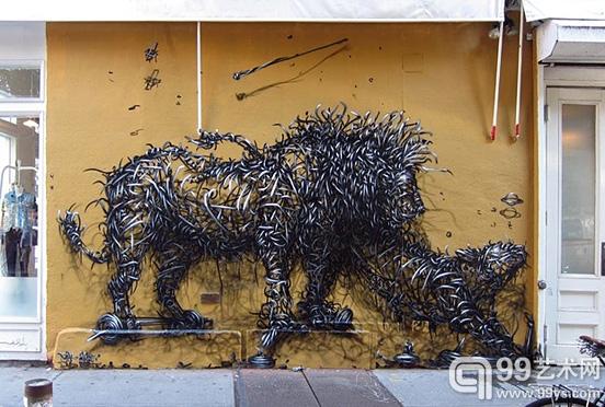 华裔艺术家DALeast:令人惊叹的街头涂鸦艺术作品
