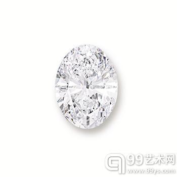 118.28克拉椭圆形D色全美无瑕白钻2.3868亿港币