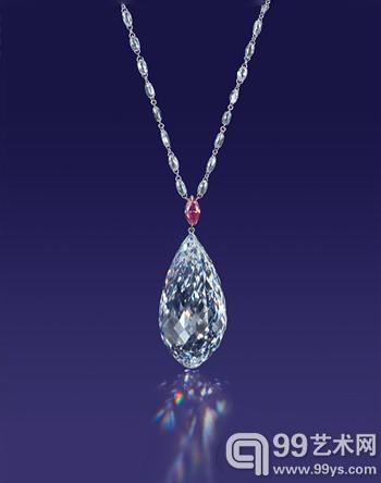 """75.36克拉""""中国之星""""的水滴形钻石1115.1245万美元"""