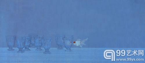 《假想敌》高茜 56x127cm  纸本设色 2010 年