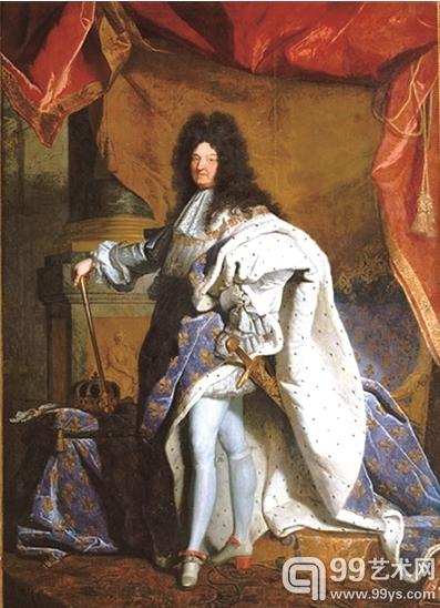 《着加冕服的路易十四》