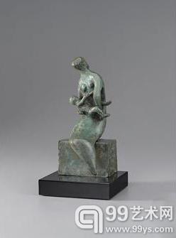 亨利·摩尔  《Maquette for Curved Mother and Child》