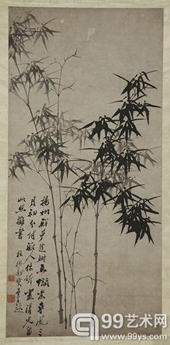 郑板桥《墨竹图》北京盈时国际 水墨纸本 立轴169×80cm