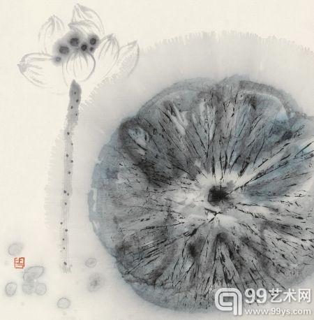 周思聪(1939-1996) 清荷图