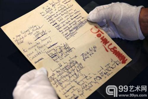列侬的大宗原创素描上拍纽约苏富比:以290万美元成交