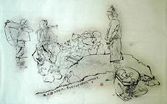 周俊论艺(5)关于书法技巧在绘画中的运用